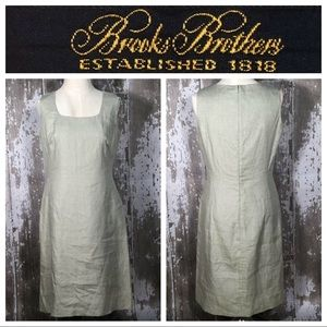 Brooks Brothers Beige Dress Sleeveless Linen 8